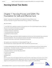 01.Chapter 7_ Nursing Process and QSEN_ The Foundation for Safe and Effective Care _ Nursing School