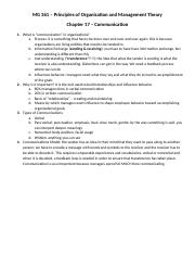 MG 361 Chapter 17 Lecture Outline f13.docx
