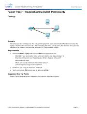 2.2.4.10 Packet Tracer - Troubleshooting Switch Port Security Instructionsz