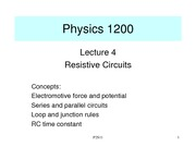 Physics II - Lecture 4 (Circuits)