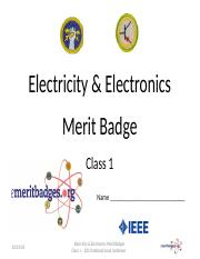 Common_Electrical_Electronics_Merit_Badge_Class_1_050813_Rev_1.ppt