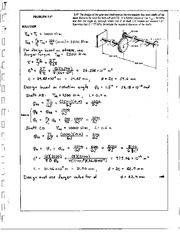 203_Mechanics Homework Mechanics of Materials Solution
