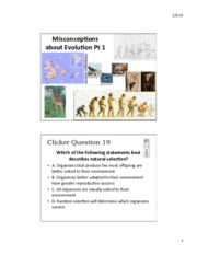 8 - Misconceptions about Evolution Pt1