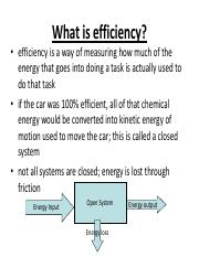 What Is Efficiency >> Efficiency And Power What Is Efficiency Efficiency Is A