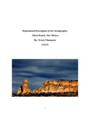 Sedimentary Depositional Descriptions