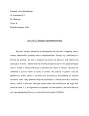 Unit 3 EA #1: Writing an Argumentative Essay.docx