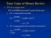 FIL 341 Time Value of Money