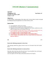 Business Communication - ENG301 Fall 2007 Assignment 02.doc