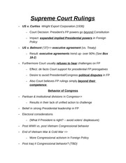 Supreme Court Rulings Chapter Notes