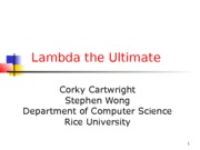 Lambda the Ultimate
