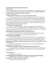 "Act One: ""The Crucible""- Study Guide Questions"