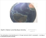 Lecture 9 - Earth - Interior and Surface Activity
