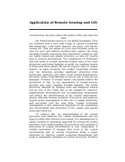 applications of remotesensing and gis