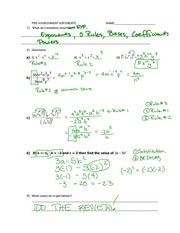 Exponents Assignment