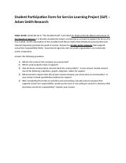 Student Service Learning Project (SLP) Adam Smith Research.doc