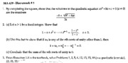 Copy of Complex Numbers -- Homework #3