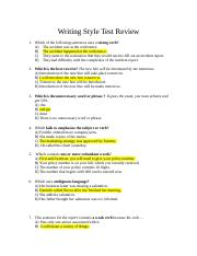 Writing Style Test Review Answers.docx