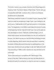 Essay on Sweeney Todd Dialogue