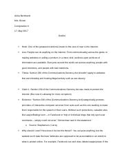 Outline for Comp. Paper