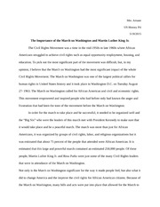 US History Essay Civil Rights MLK