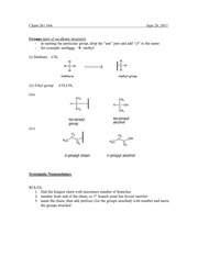 Chem 261 Groups Notes