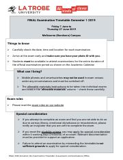 FINAL-Examination-Timetable-BU-Semester-1,-2018 pdf - FINAL