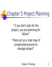 ch05 project planning