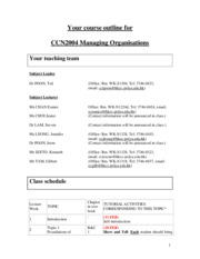 CCN2004 Course Outline