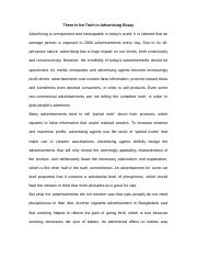 phil business and professional ethics bus prof ethic  4 pages there is no truth in advertising essay