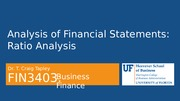 FIN 3403 - Module 7 - Chapter 4  - Analysis of Financial Statements - Student