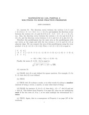 MATH 1105 Fall 2013 Partial Practice Problems 3 Solutions