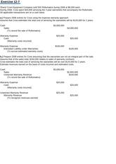 sheryl crow equipment company sold 500 rollomatics dur Acct 551 week 2 homework e13-11, e13-12, p13-9 e13-11 (warranties) sheryl crow equipment company sold 500 rollomatics during 2014 at $6,000 each during 2014, crow spent $20,000 servicing the 2-year warranties that accompany the rollomatic.