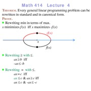 Lecture 4 on Linear Programming