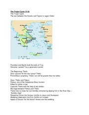The Trojan Cycle and The Trojan War notes