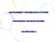 LECTURE 8  -  Enhancing Decision Making