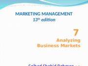 Marketing Management (Chapter 7)2