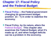 ECN 203 (17), Fiscal Policy