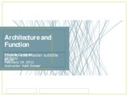 Assignment Architecture and Function 2