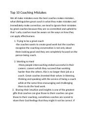 Top 10 Coaching Mistakes.docx
