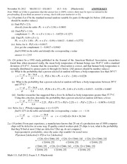 MATH 111 Fall 2012 Exam 3 Solutions