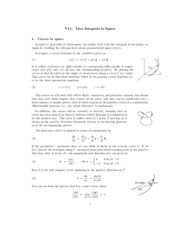 line integrals in space review