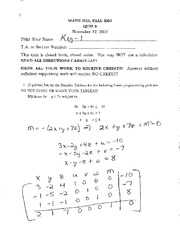Practice Quiz 9 and 10 Solutions