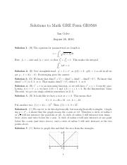 GRE0568 solutions