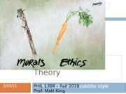 Lesson 3 - Moral Theory