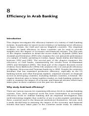 Efficiency in Arab Banking