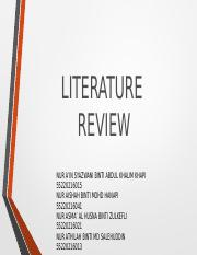 LITERATURE REVIEW real