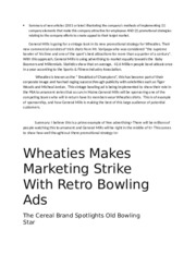 Wheaties-Summary of new articles