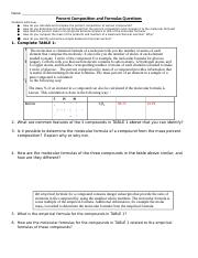 Copy of 3-3 Percent Composition and Formulas Questions.docx