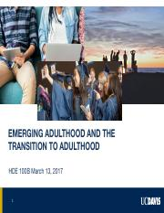 HDE 100B Emerging Adulthood and the Transition to Adulthood.pdf