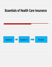Essentials of Health Insurance 1